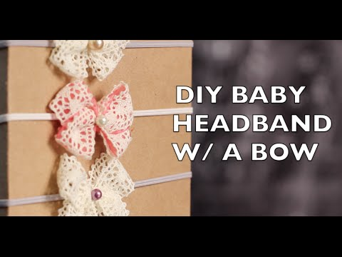 DIY How To Make A Baby Headband With A Bow
