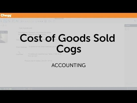 Cost of Goods Sold (Cogs) | Accounting | Chegg Tutors