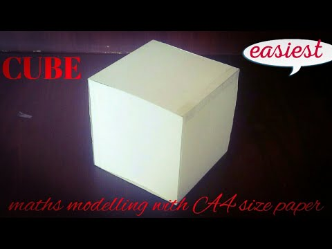 cube | maths model 3d shapes using A4 paper