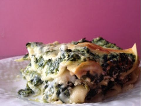 How to Make a Spinach Mushroom Lasagna - White Lasagna Recipe