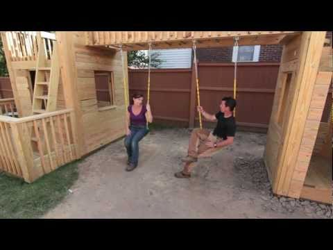 How to build a serious backyard wood playset!