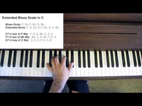 Blues Piano Tutorial - Extending the Blues Scale