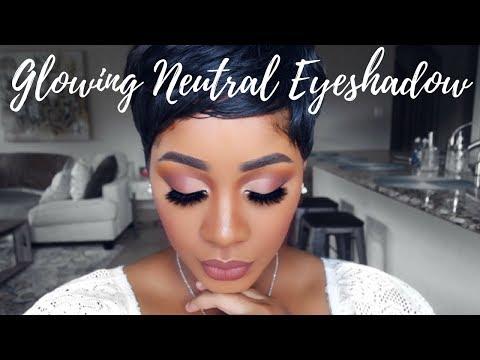 Neutral Soft Glam Eyeshadow Make Up Tutorial | Half Cut Crease