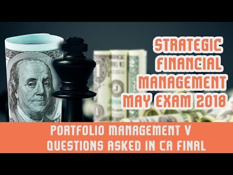 Portfolio Management   V | Questions asked in CA Final Exam |  Expected Return | Standard Deviation