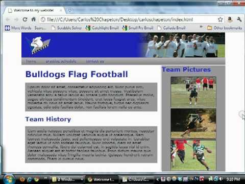 Quick HTML/CSS Tutorials: Sidebar