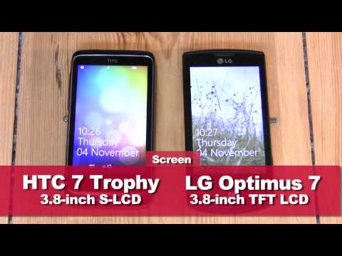 HTC 7 Trophy vs LG Optimus 7 - Windows Phone 7 war