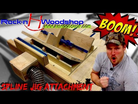 Spline Jig Attachment for Ultimate Crosscut Sled with DC // How to