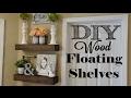 DIY Wood Floating Shelves
