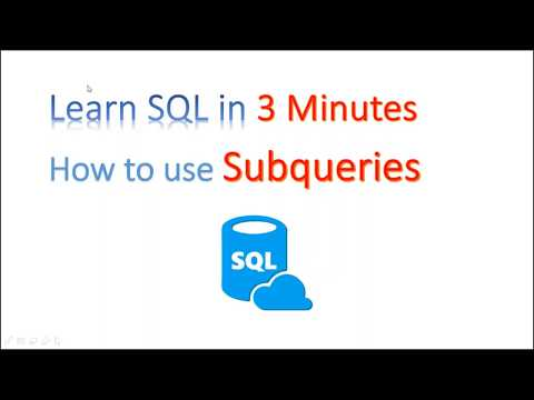 【Learn SQL in 3 minutes】--How to use Subqueries