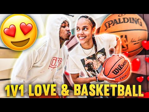 If I win I get to date her... 😍 1v1 Love & Basketball!