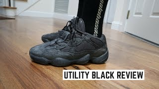 meet 41674 5b507 YEEZY 500 UTILITY BLACK | Is it worth the cop? + On Foot ...