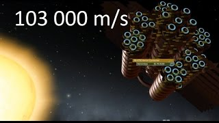 Ksp  Solar Speed Run - 103 000 M/s  With Stock Parts Only