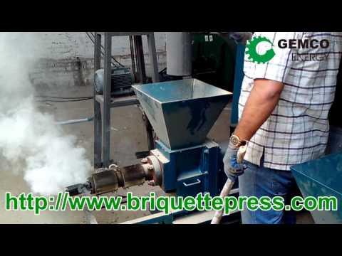 how to make biomass wood briquettes by a fuel sawdust briquette press machine
