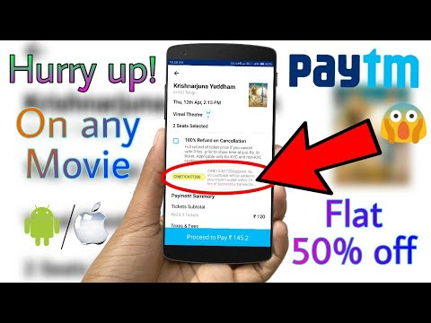 Get 50% Off on any movie Tickets on PayTM - No Minimum Transaction Required 😍 (April 2018)