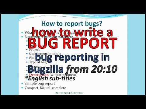 How to report bugs effectively - with sample Bug Report