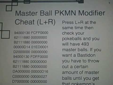 Pokemon SoulSilver Action Replay Cheat Codes