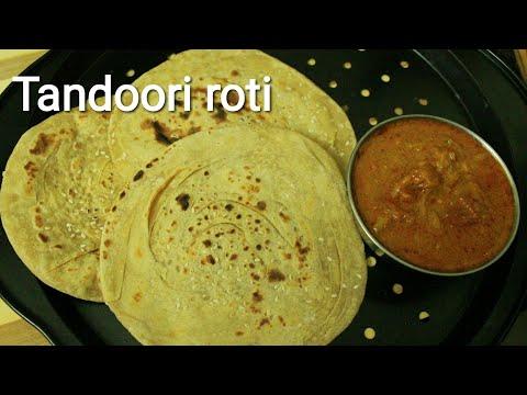 Whole wheat tandoori roti recipe - Tandoori roti - Tandoori paratha - Wheat roti