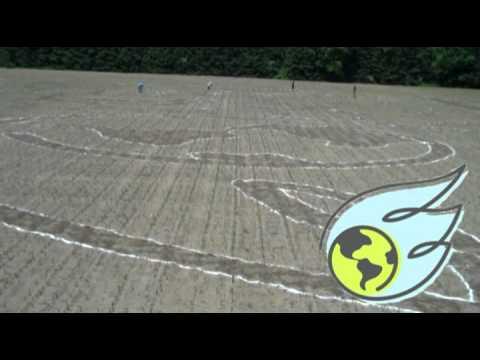 Building the Corn Maze 2011