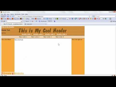 CSS Tutorial Pt 3 - Creating a Horizontal Nav