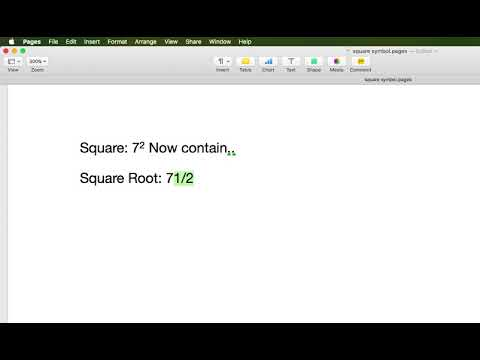 How to Use Square Symbol om Mac: Pages, Mail
