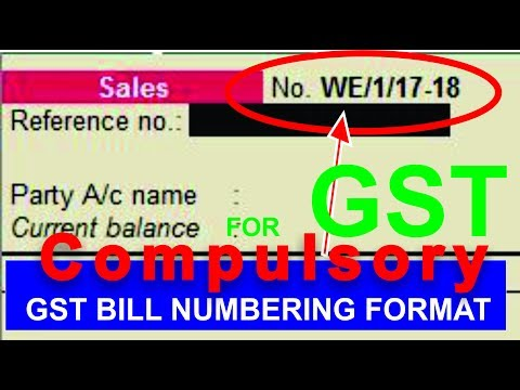 Advanced voucher numbering format for GST trasaction in Tally erp 9