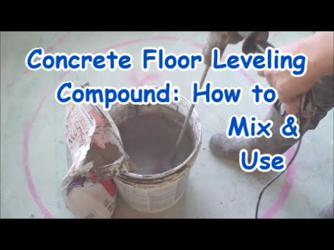 Self Leveling Compound Mapei on Concrete Floor: How to Mix and Use MrYoucandoityourself