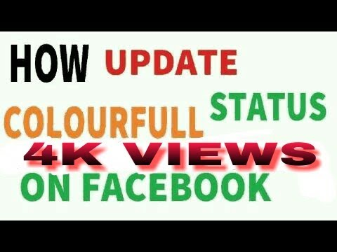 How to post coloured text status on facebook lite - background facebook