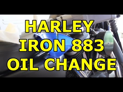 Harley Davidson Iron 883 Sportster - Easy DIY Oil Change