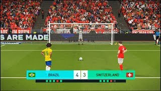 BRAZIL vs SWITZERLAND | Penalty Shootout | PES 2018 Gameplay PC