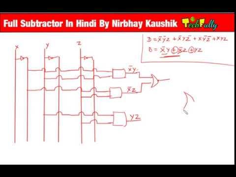 Full Subtractor in Hindi By Nirbhay Kaushik