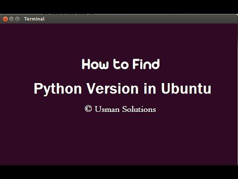 How to find Python version in Ubuntu