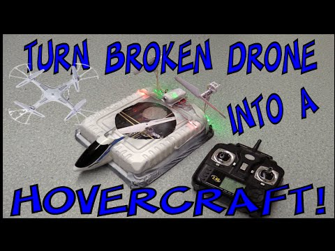 Turn your broken DRONE into a RC HOVERCRAFT | Make Science Fun