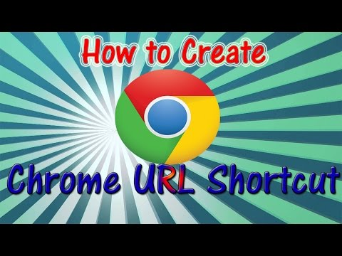 How To Create Google Chrome URL Shortcut On Desktop