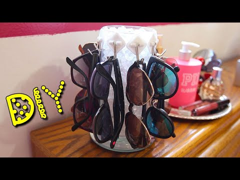 DIY Rotating Sunglasses Display || Lucykiins