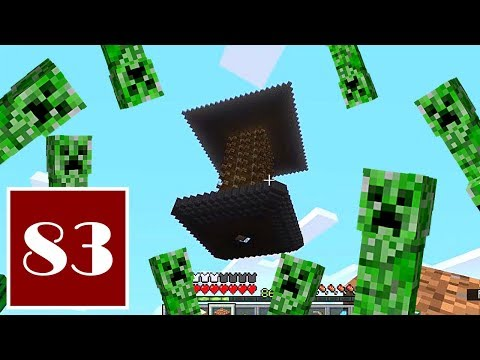 Minecraft Let's Play - 83 - Giving Myself the Creeps, Part 2: Finishing the Creeper Farm
