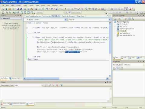 VB.NET 2008 App.Config Usage