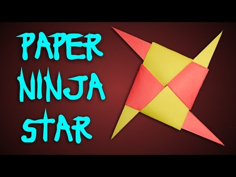 How To Make Ninja Star Shuriken With Paper Easy.