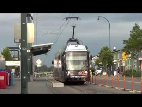 Sound Transit Tacoma LINK - Skoda 10T1 #1001 departing Tacoma Dome Station