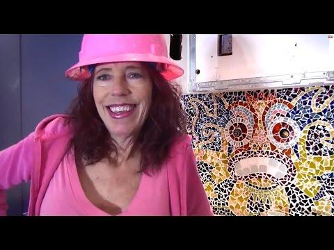 Titillating Tiki mosaic glass tile decorative mural insert