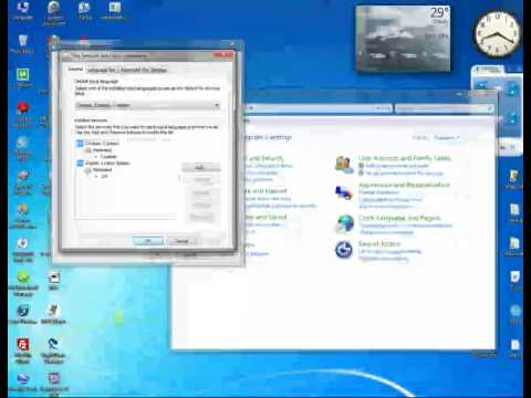 Windows 7: Change keyboard language