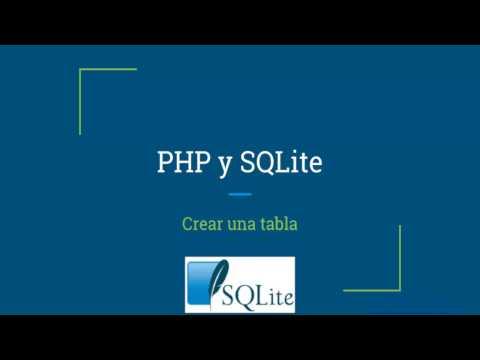 Crear una tabla con Create Table en SQLite3 para PHP