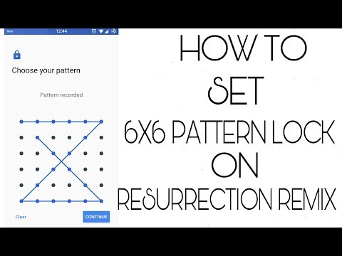 How To Set 6X6 Pattern Lock On Android