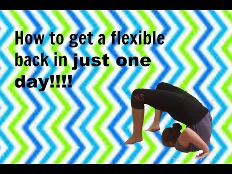 How to get a flexible back in just one day🙃😱
