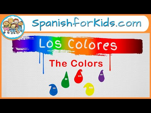 Los Colores: The Colors in Spanish Song by Risas y Sonrisas Spanish for Kids