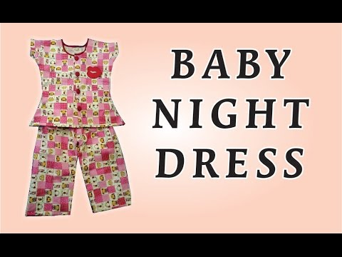 How To Stitch Baby Night Dress In HIndi ! Urdu