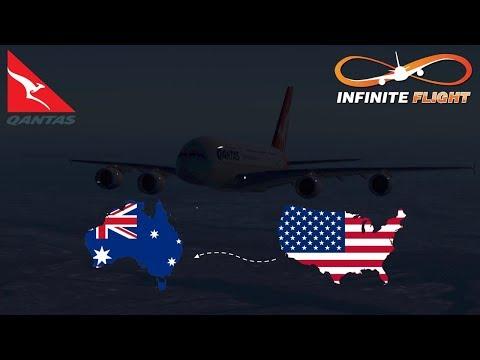 Infinite Flight GLOBAL: New York (KJFK) To Sydney (YSSY) | TIMELAPSE | QANTAS Airways | Airbus A380