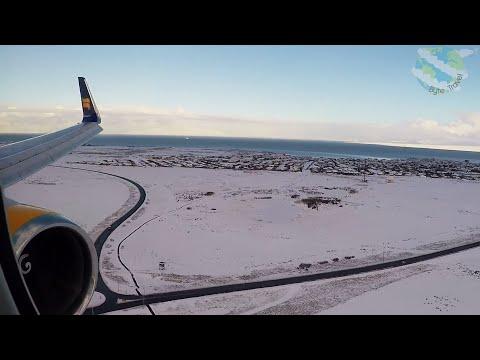 Icelandair Boeing 767-300ER Approach and Landing into Snow-Covered Keflavik/Reykjavik
