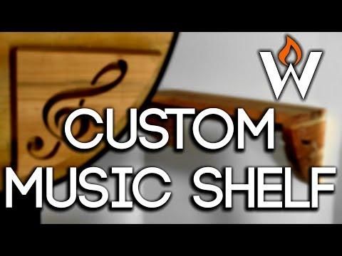 Make A Shelf | Music Themed with Treble Clef Brackets - FREE Pattern