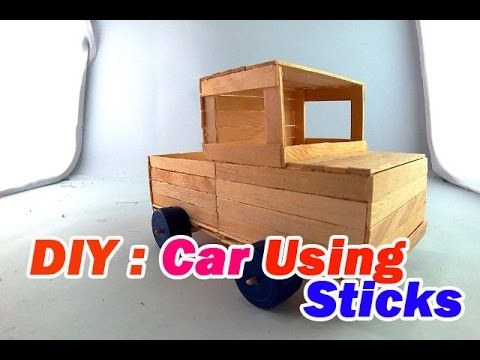 How to make cars with popsicle sticks #4