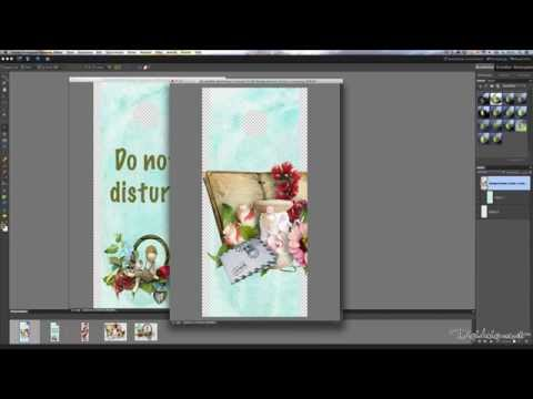 Create a Doorhanger with Digital Scrapbooking Elements